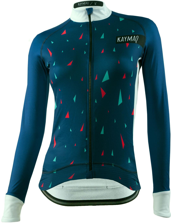 KAYMAQ DESIGN W1-W41 damska bluza rowerowa Rozmiar: L,Kaymaqdesign11-141nieb