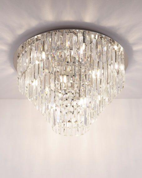 Maxlight Monaco C0137 plafon lampa sufitowa chrom klosz przezroczyste szkło 15x40W G9 60cm