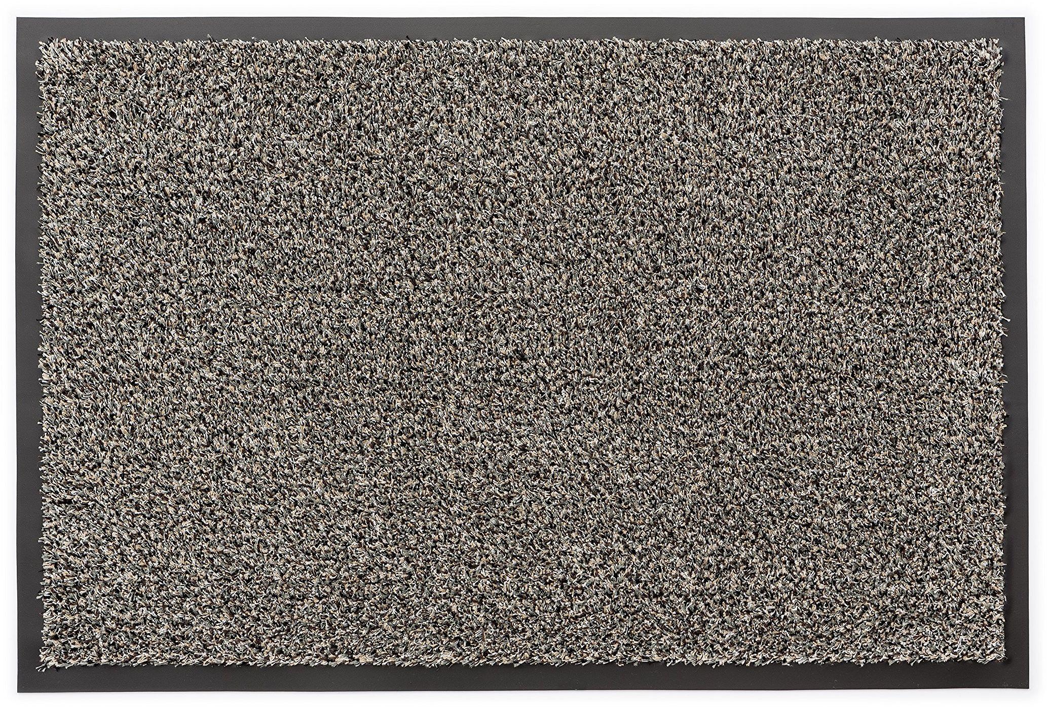 Angelina wycieraczka / dywanik do drzwi / mata do wycierania, 60 x 80 cm, ciemnoszara