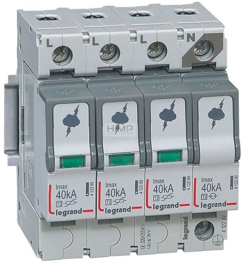 Ogranicznik przepięć T2 40 KA 3P+N Legrand 412247