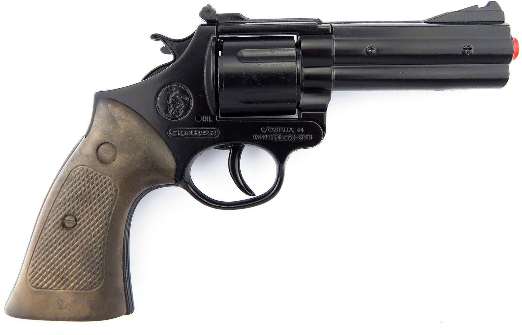 Gonher - Pistolet policyjny 12 strzałów, czarny kolor (127/6)