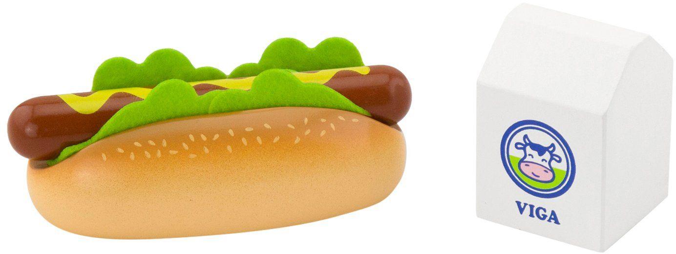 Viga Zabawki - 51601 - Zestaw do zabawy - hot dog z mlekiem
