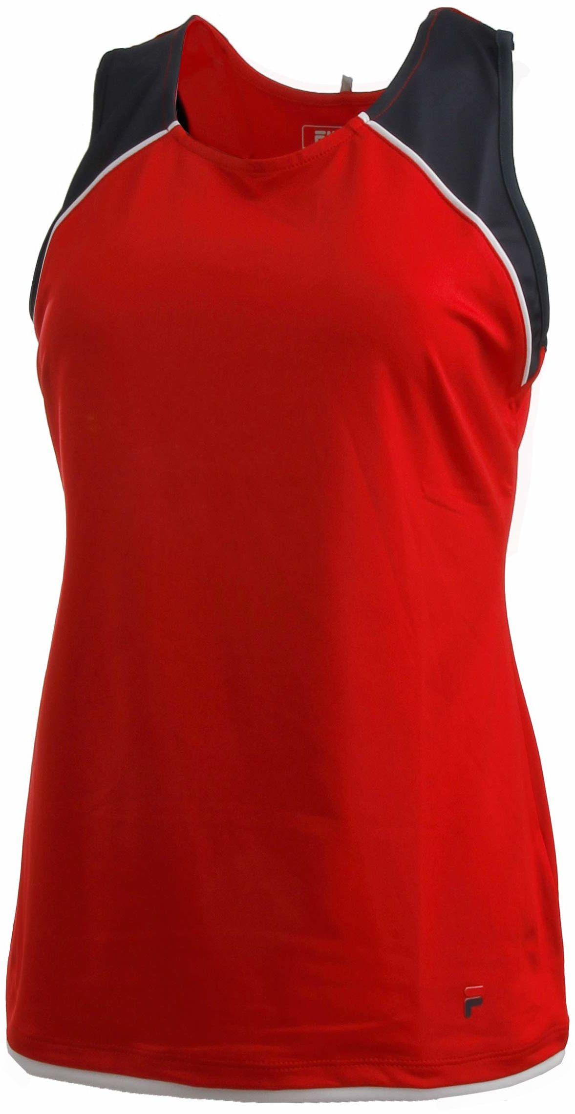 Fila Thekla Tank-Top czerwony, ciemnoniebieski, XXL odzież wierzchnia