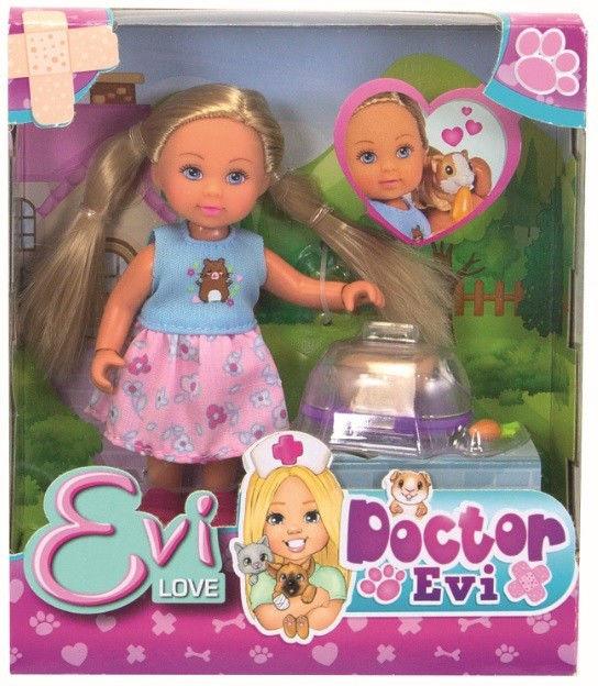 Lalka Doktor Evi ze świnką morską