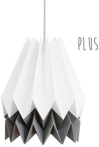 Lampa wisząca Plus Polar White/Alpine Grey Orikomi biało-szara oprawa w dekoracyjnym stylu