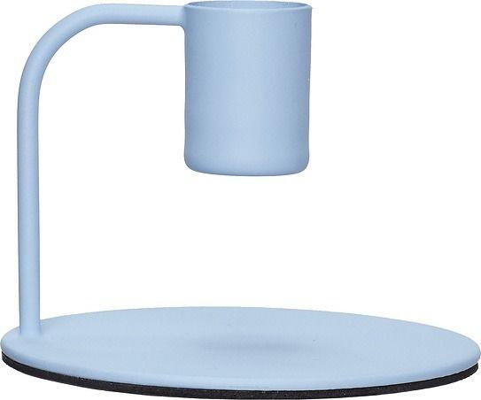 Świecznik hübsch niebieski metalowy