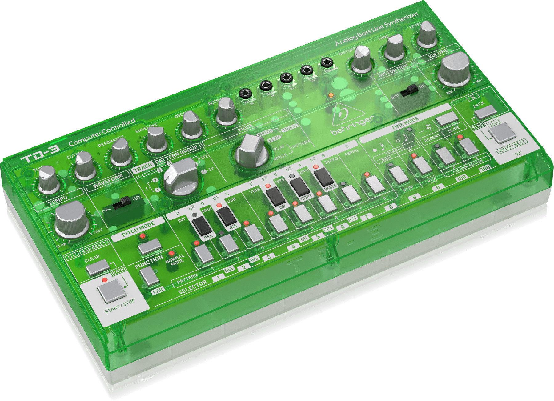 Behringer TD-3-LM - analogowy syntezator linii basowych, ZIELONY