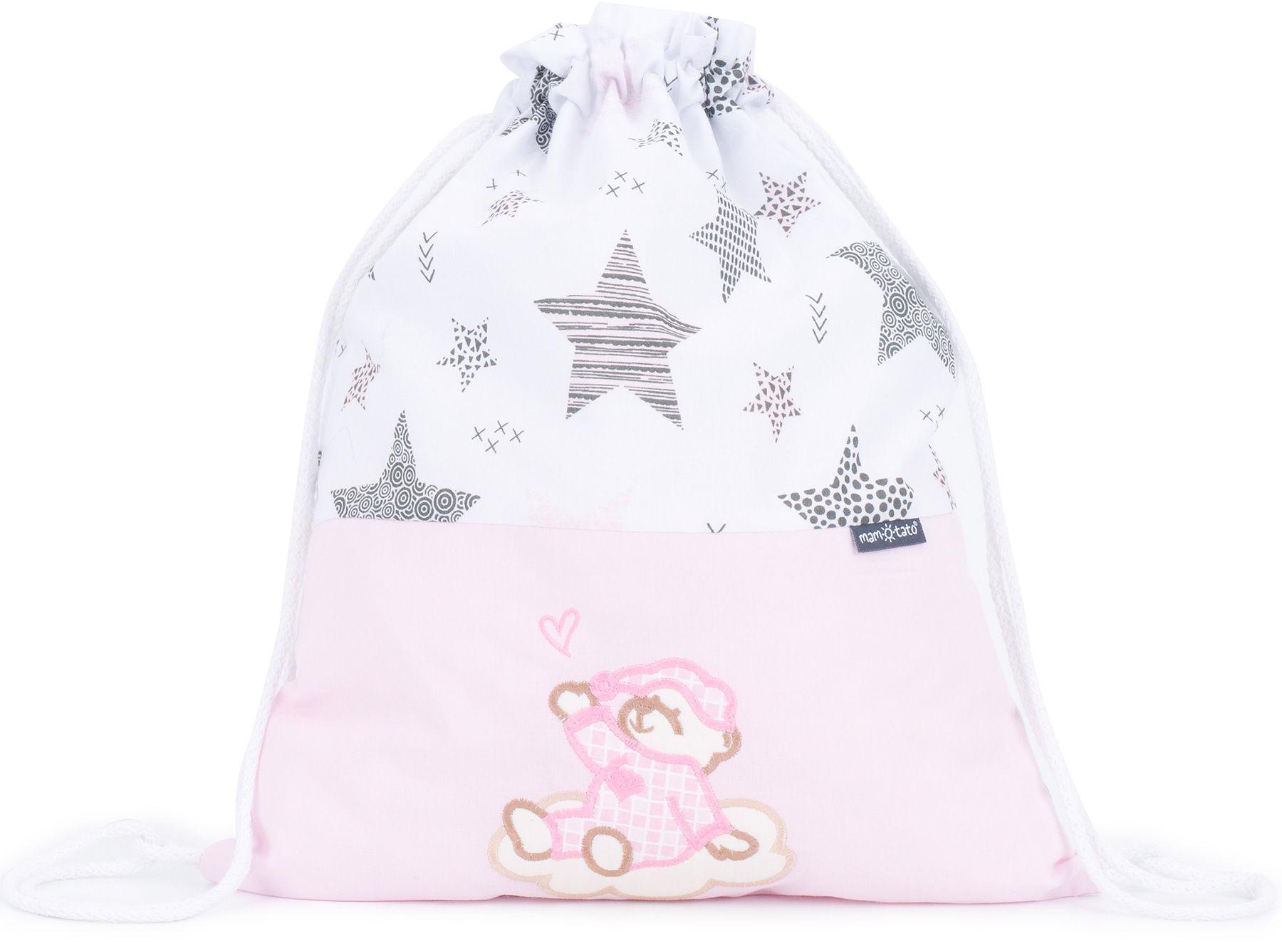 Plecak / worek bawełniany dla dzieci Starmix róż / śpioch na chmurce róż