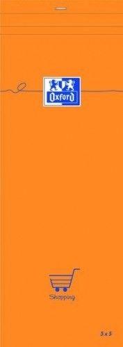 Blok notatnikowy Oxford Everyday 74x210 w kratkę - pomarańczowy