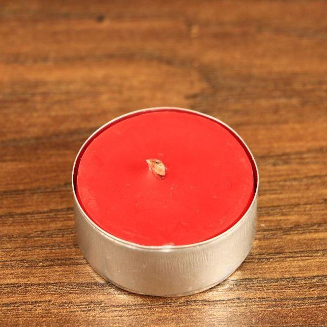 Tealight - świeca z wosku herbaciarka - czerwona (6 sztuk)