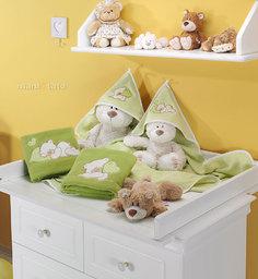 MAMO-TATO Kocyk Polarowy Śpiacy Miś w zieleni