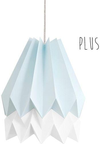 Lampa wisząca Plus Mint Blue/Polar White Orikomi niebiesko-biała oprawa w dekoracyjnym stylu