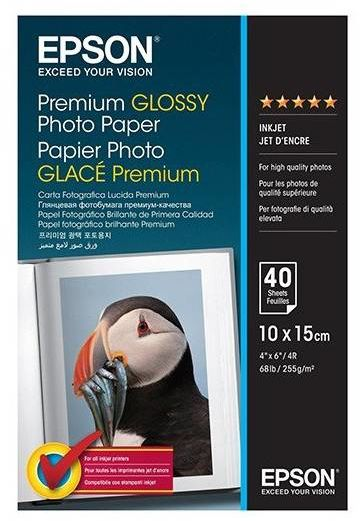 Papier 10x15 EPSON Premium Glossy Photo Paper 255g/m (40ark) (C13S042153)