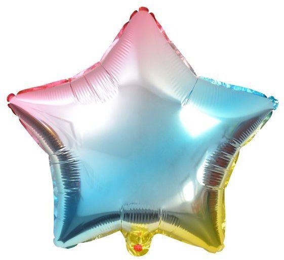 Balon foliowy Gwiazdka 45cm tęczowy BLF5719GWI