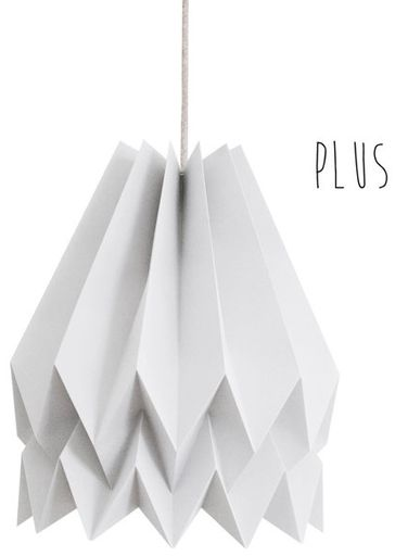 Lampa wisząca Plus Light Grey Orikomi jednolicie szara oprawa w dekoracyjnym stylu