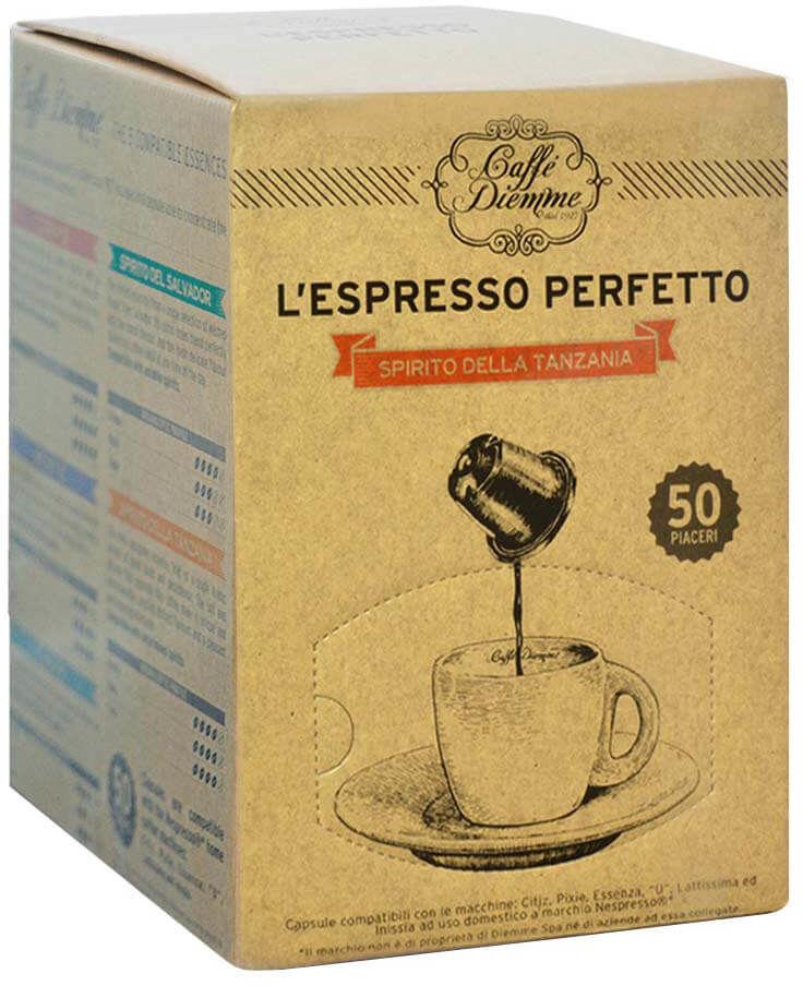 Diemme Spirito Tanzania Nespresso 50 kapsułek