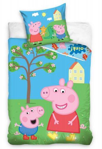 Carbotex Pościel bawełna 140x200 Świnka Peppa i George