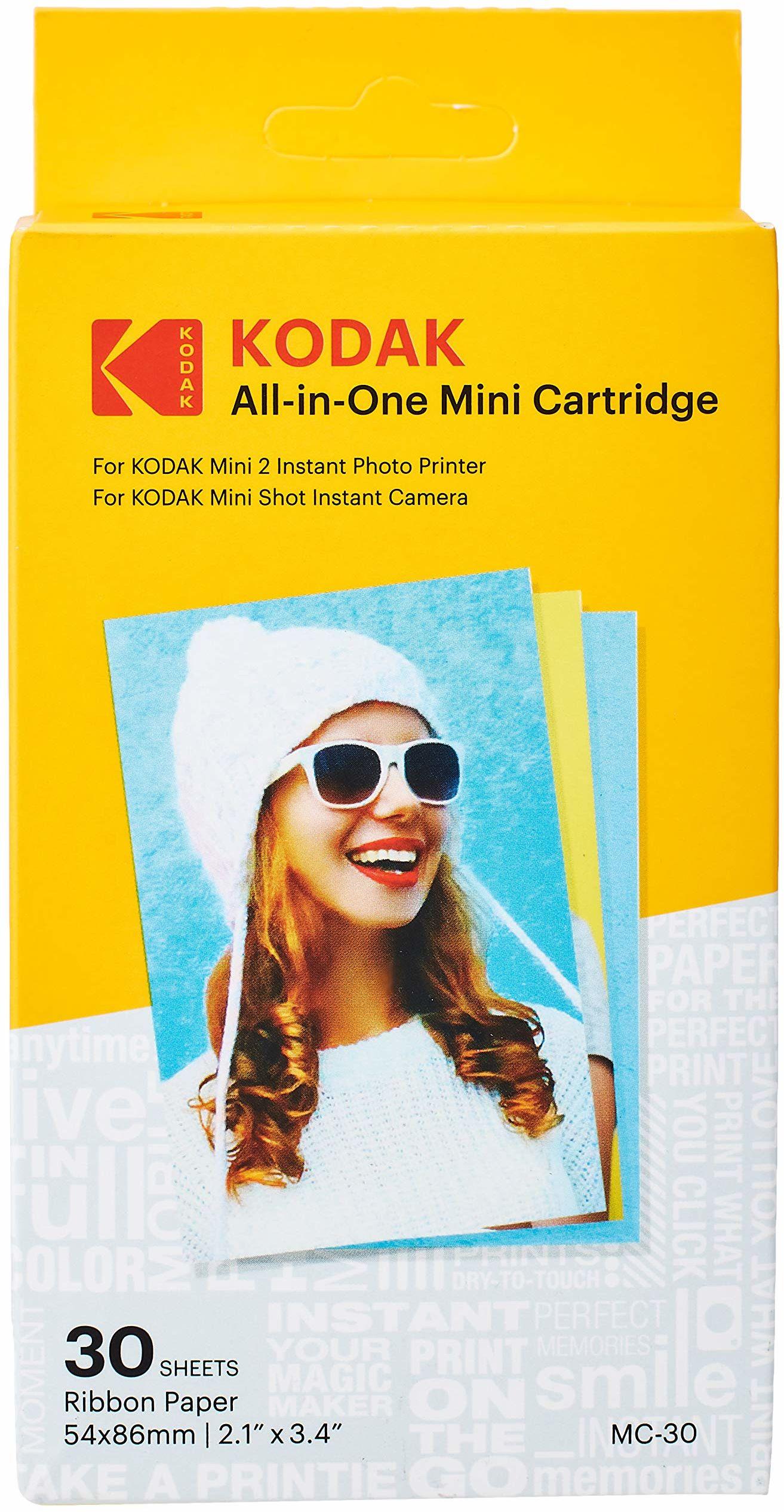 Kodak Mini 2 wkład do drukarki fotograficznej MC wszystko w jednym papierze i kolorowy wkład atramentowy  kompatybilny z mini kamerą strzelania, mini 2 drukarki (nie oryginalny mini) 30 sztuk
