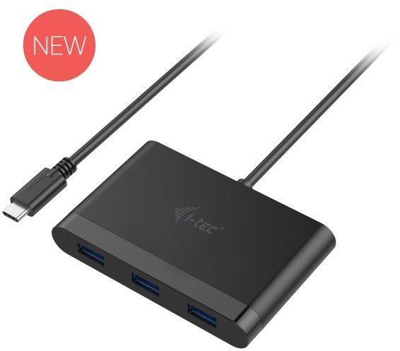 i-tec 3 portowy HUB USB-C z funkcją Power Delivery 3x USB 3.0/1x USB-C Power Delivery/port danych, kompatybilny z Thunderbolt 3