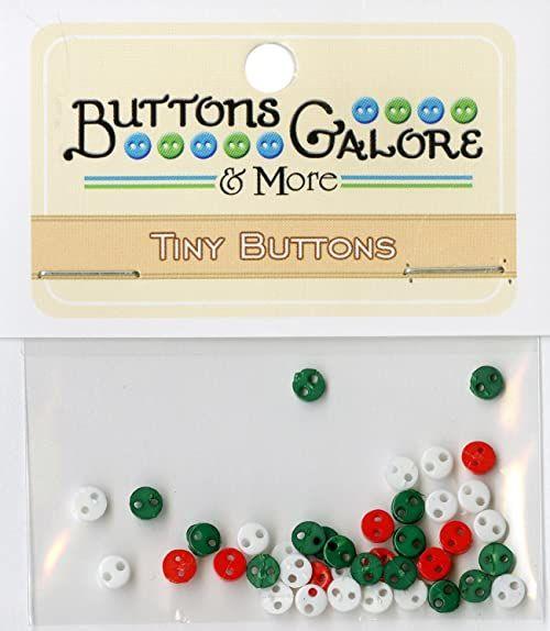 """Buttons Galore Guziki z wytrzymałego tworzywa sztucznego""""Christmas"""", wielokolorowe"""