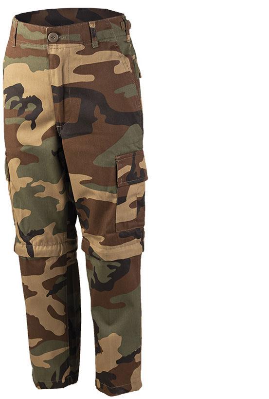 Spodnie dziecięce Mil-Tec BDU Zip-Off Woodland (12030020)