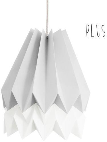 Lampa wisząca Plus Light Grey/Polar White Orikomi szaro-biała oprawa w dekoracyjnym stylu