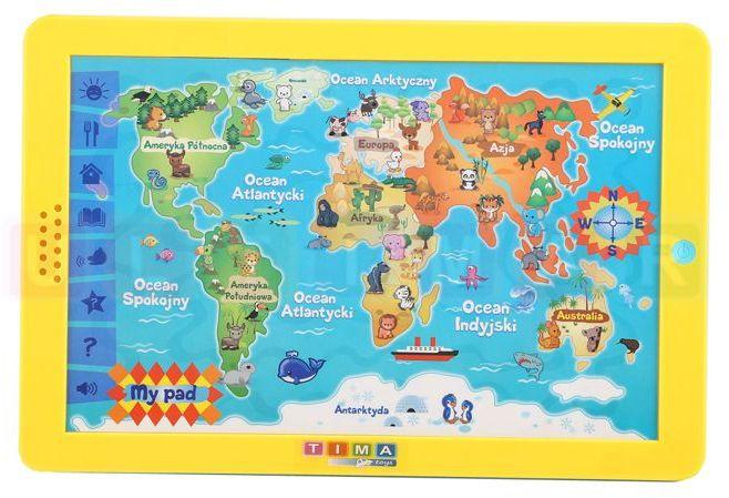 Tablet Mapa Świata w języku polski