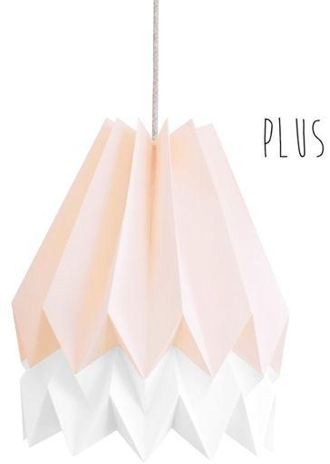 Lampa wisząca Plus Pastel Pink/Polar White Orikomi różowo-biała oprawa w dekoracyjnym stylu