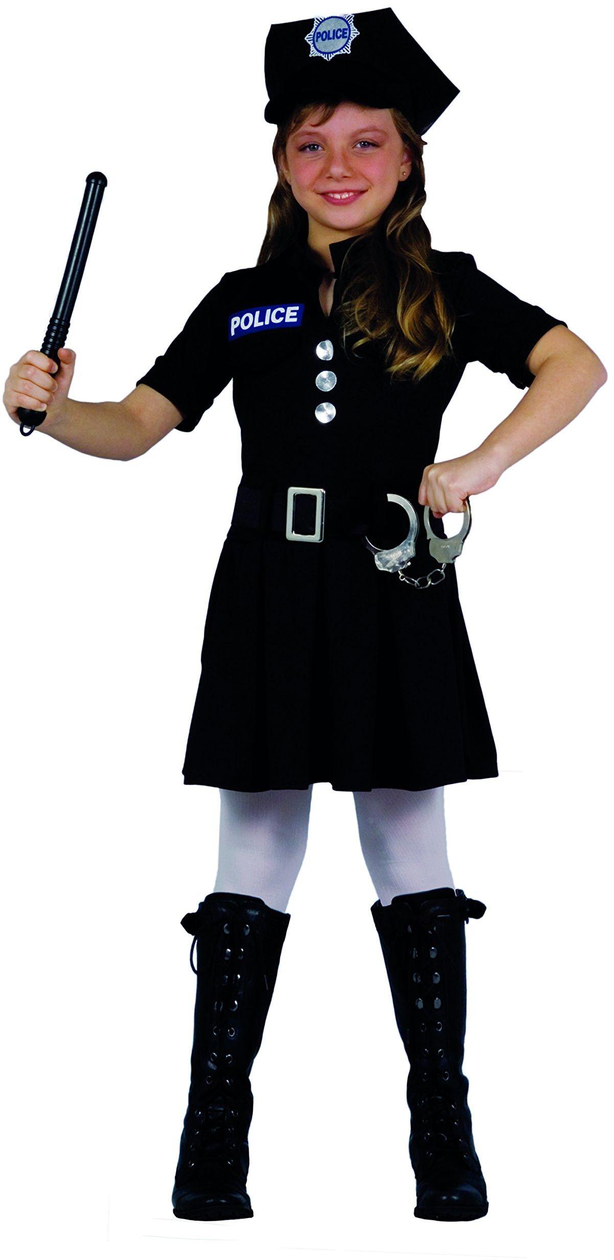 Fiori Paolo 61223 - kostium policjanta dla chłopców 7-9 anni czarny