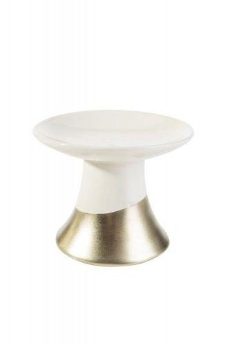 Świecznik dekoracyjny12X12X10 biało złoty