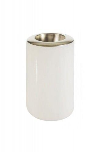 Świecznik dekoracyjny 8X8X14 biało złoty