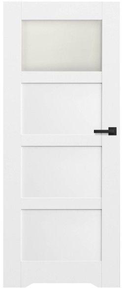 Drzwi bezprzylgowe z podcięciem Connemara 70 lewe kredowo-białe