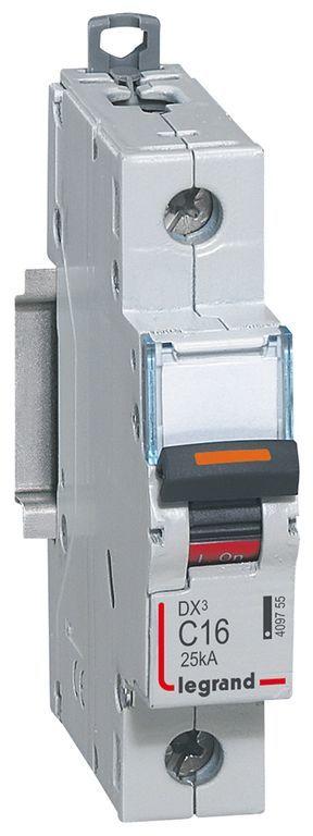 Wyłącznik nadprądowy 1P C 16A 25kA S321 DX3 409755