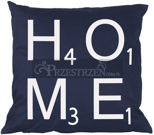PODUSZKA OZDOBNA FRENCH HOME - HOME BLUE