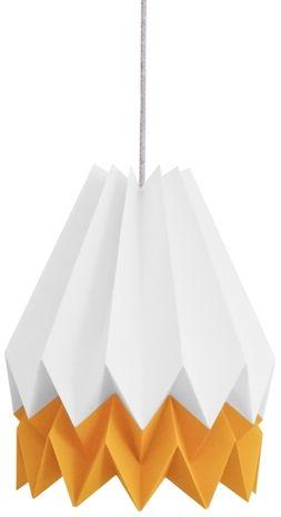 Lampa wisząca Summer Mango Yellow Orikomi biało-żółta oprawa w nowoczesnym stylu