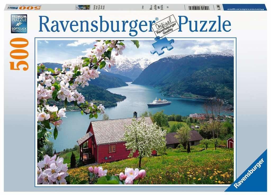 Ravensburger Puzzle 15006 Skandynawska Idylla 500 Elementów Puzzle Dla Dorosłych (15006) Unikalne Elementy, Technologia Softclick - Klocki Pasują Idealnie