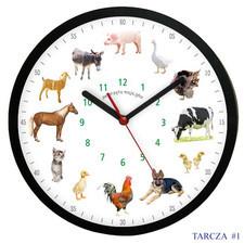 Zegar ścienny solid z głosami 12 zwierząt #2