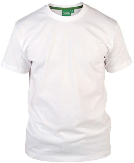 FLYERS-D555 Duży T-shirt Biały