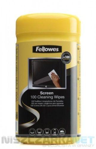 Ściereczki nasączone do czyszczenia ekranów Fellowes - tuba 100szt