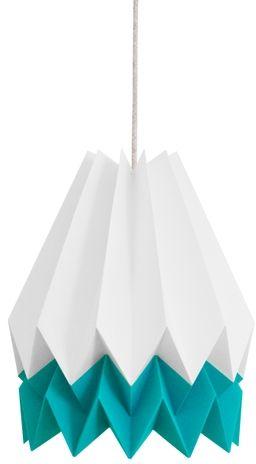 Lampa wisząca Summer Caribbean Blue Orikomi biało-niebieska oprawa w nowoczesnym stylu