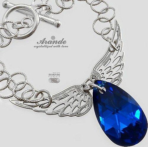 Swarovski Bransoletka Blue Comet Wing Srebro