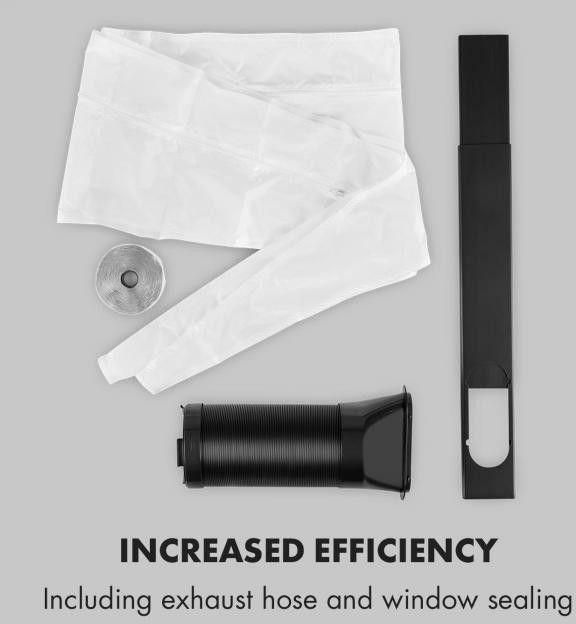 Klarstein Metrobreeze Rom klimatyzator 10000 BTU klasa efektywności energetycznej A+ pilot czarny