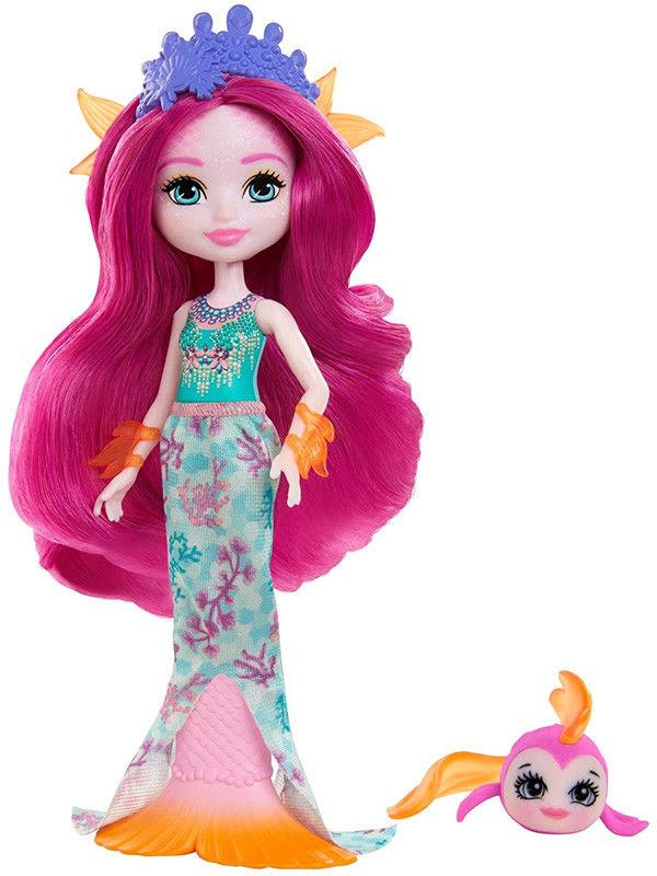 Enchantimals Syrenka Maura Mermaid i rybka Glide GYJ02