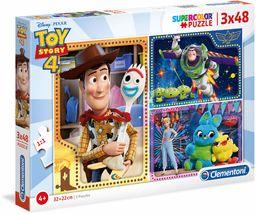 Clementoni 25242 3 x 48 szt. Puzzle Toy Story 4, wielokolorowe