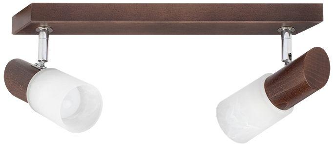 Spot Light 2222276 Birgit spot oprawa oświetleniowa orzech klosze szkło alabaster 2xE14 40 W 39cm