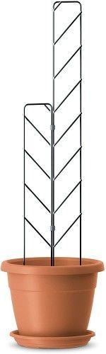 Zestaw kratownic(2szt) do doniczek zawierający klipsy łączące zielony