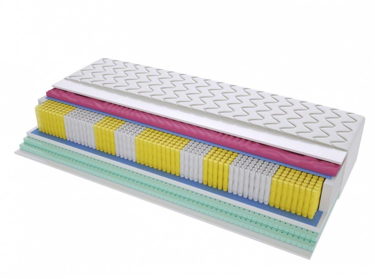 Materac Średnio twardy 2x Lateks Profilowana Pianka Badalona Molet Multipocket 70x160 cm