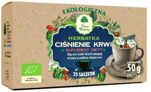Herbatka CIŚNIENIE KRWI BIO (25 x 2g) Dary Natury