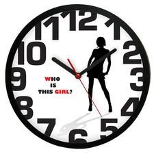 Zegar ścienny kwarcowy Who is the girl?