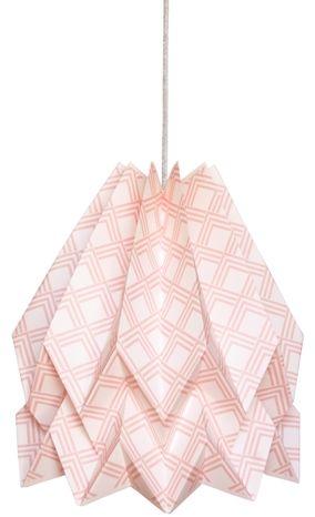 Lampa wisząca Kayapó Pastel Pink Orikomi dekoracyjna oprawa w kolorze różowym